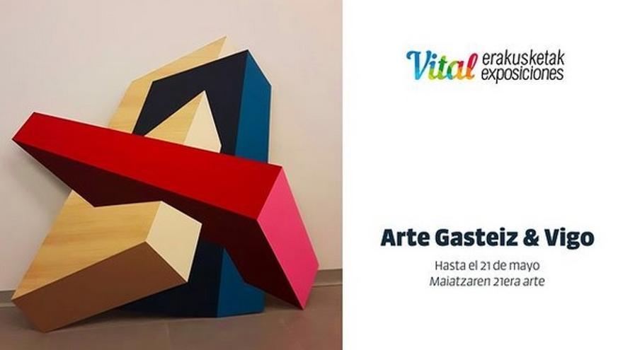 """Algunas de las creaciones de la muestra """"Arte Gasteiz & Vigo"""""""