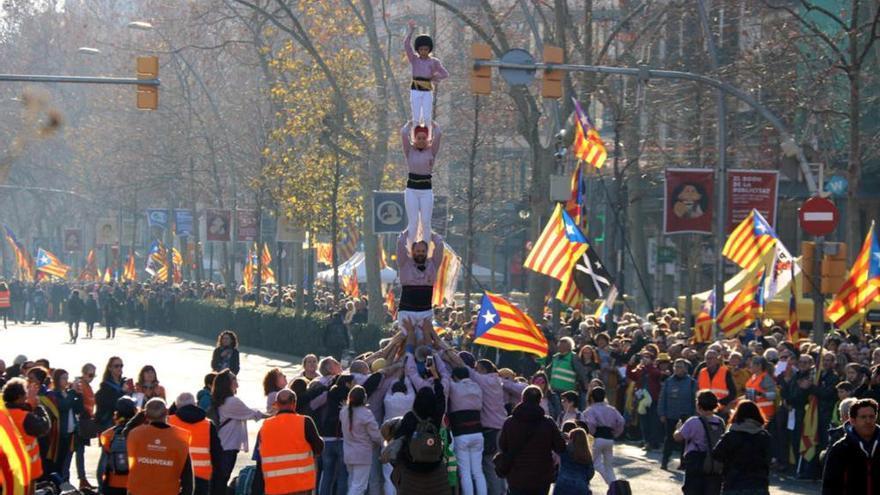 L'independentisme es manifesta a Barcelona en contra del judici del procés