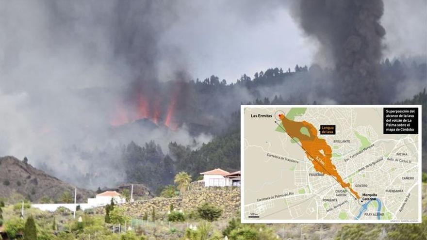 ¿Hasta dónde llegaría la lava del volcán de La Palma en Córdoba?