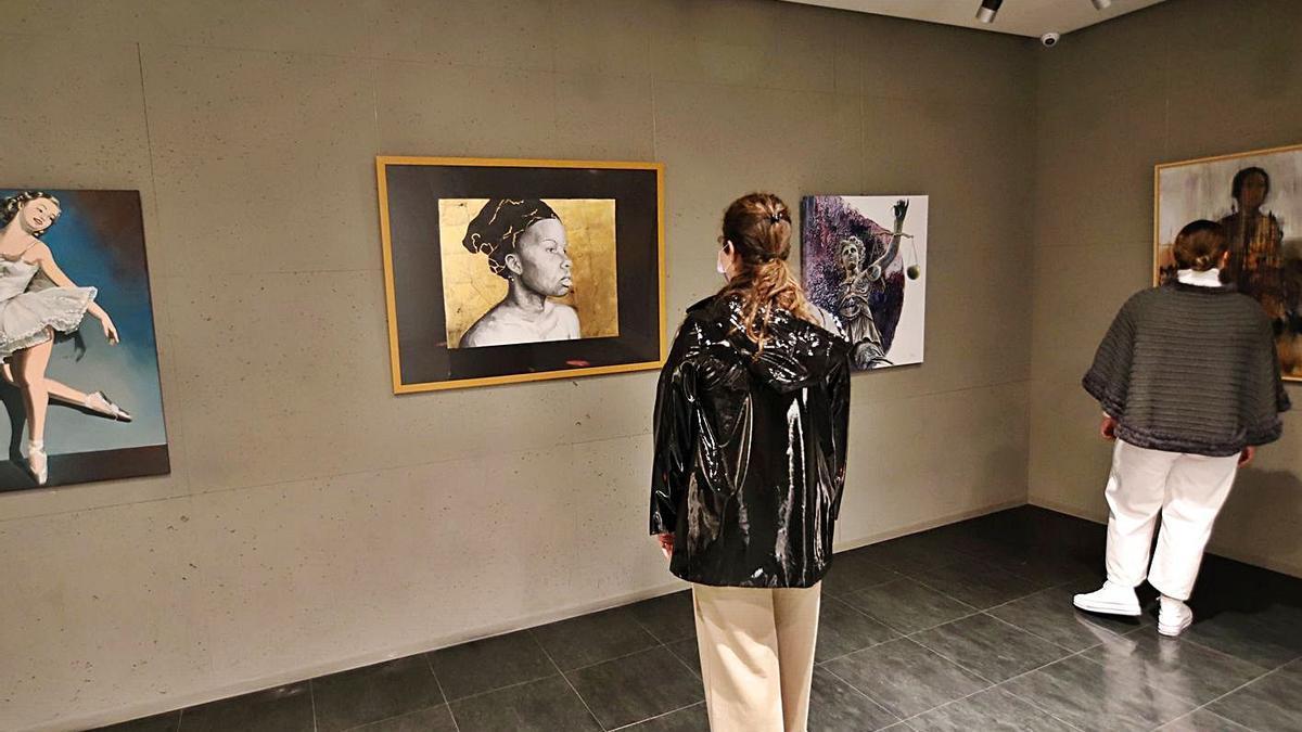 Varias de las obras que componen la exposición.