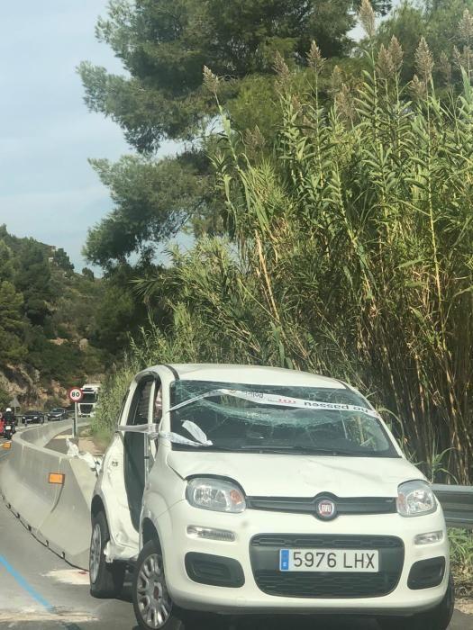 Accident a l'aeri de Montserrat, a la C-55