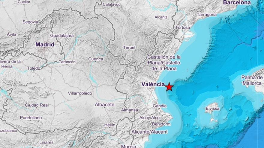 Nuevo terremoto de magnitud 3 en el Golfo de Valencia