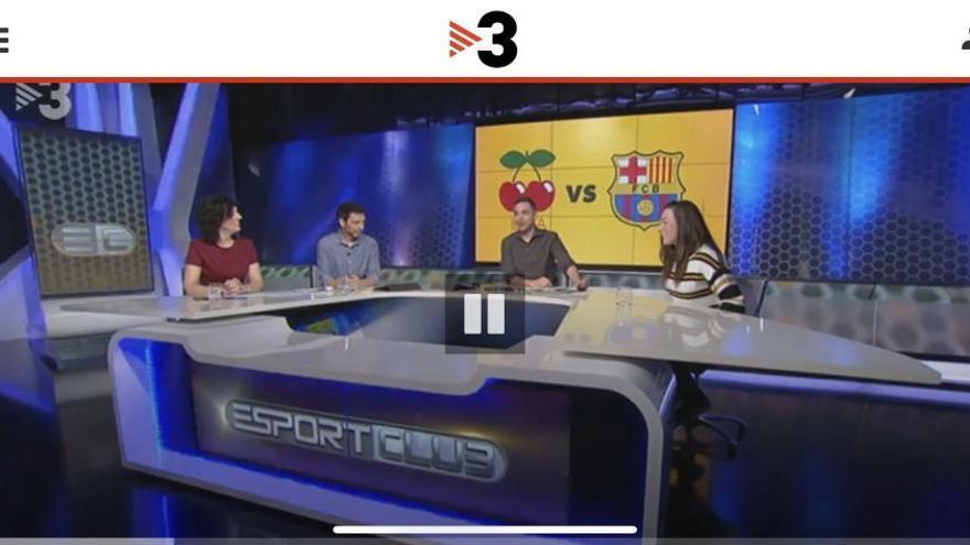 TV3 utiliza el logo con las cerezas de Pacha como escudo de la UD Ibiza