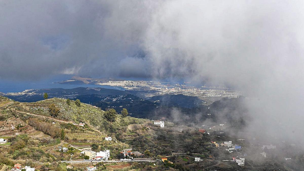 Los alisios traen más lluvias y frío  al norte y nordeste de Gran Canaria