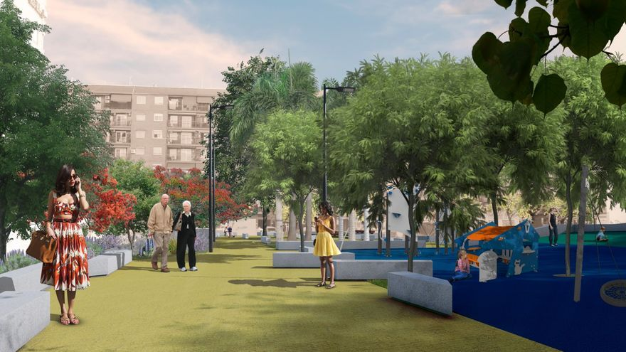 Així serà el jardí nou de Benicalap