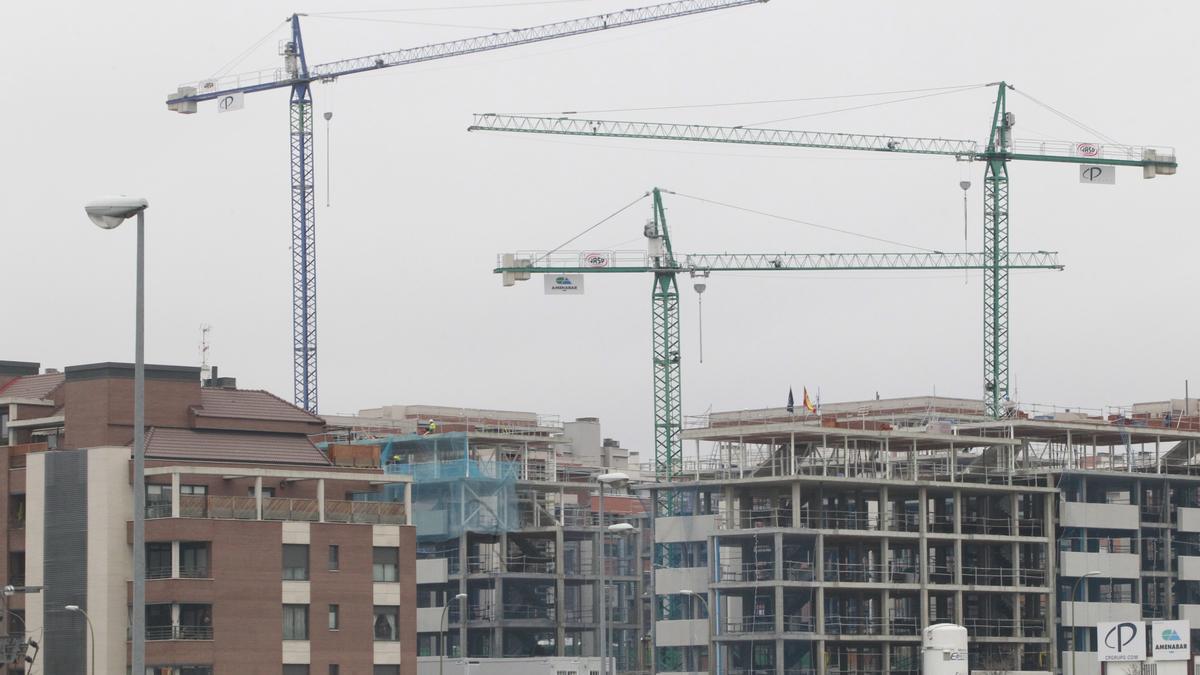 Construcción de nuevas viviendas.