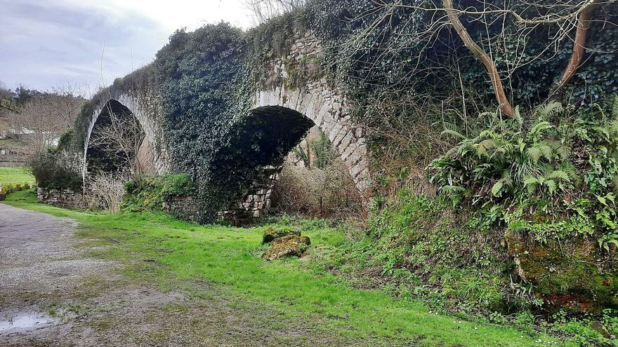 Olloniego clama por mejoras para su patrimonio: la recuperación del puente viejo, paralizada