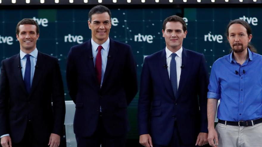 Imagen del debate celebrado en RTVE.