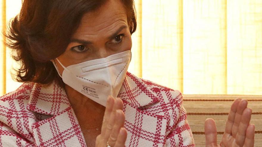 """Carmen Calvo: """"El Gobierno invierte donde hay utilidad"""""""