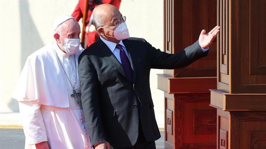 El papa Francisco se reunió en Nayaf con el ayatolá Al Sistani