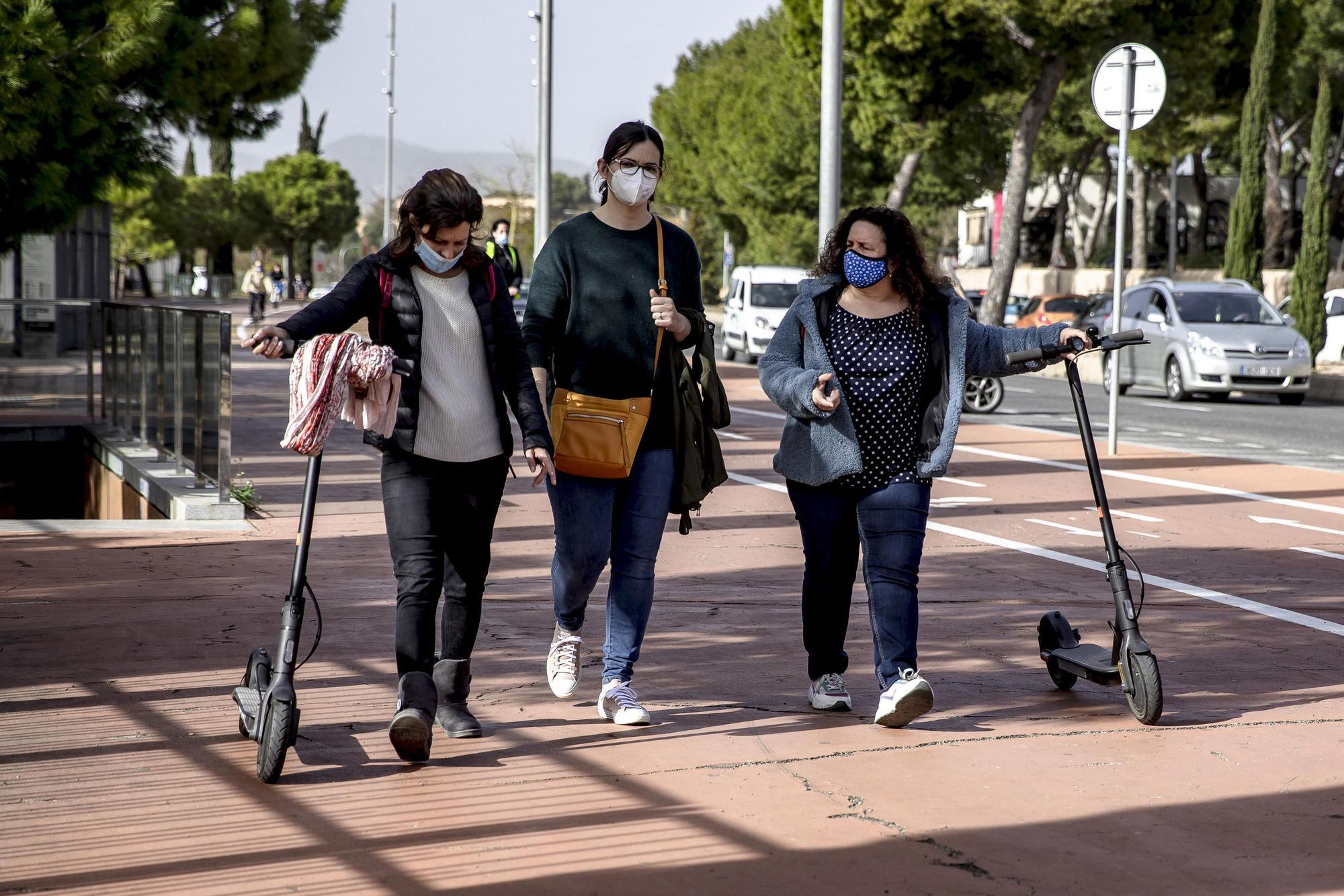 Invasión de patinetes en Palma