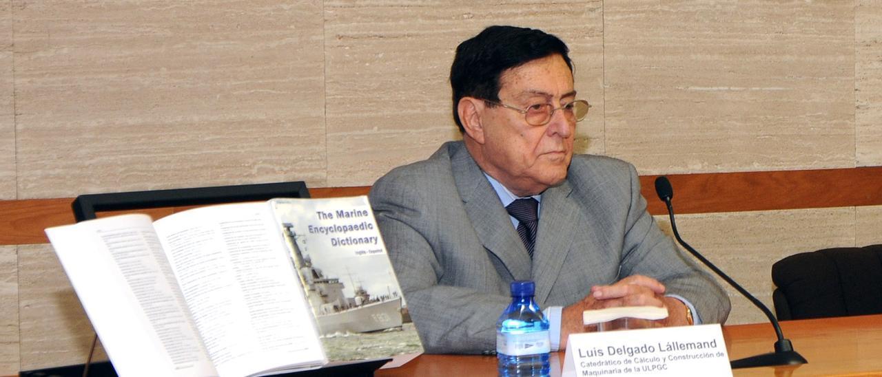 Luis Delgado Lállermand, primer director de Repnaval y catedrático de la ULPGC.