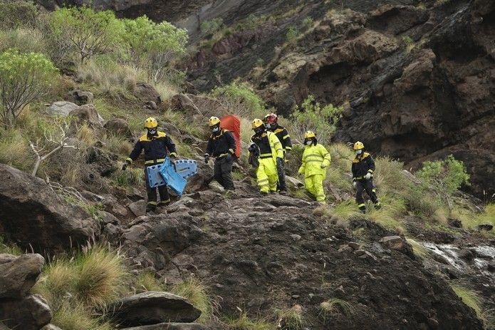 Rescate de un senderista en Charco Azul
