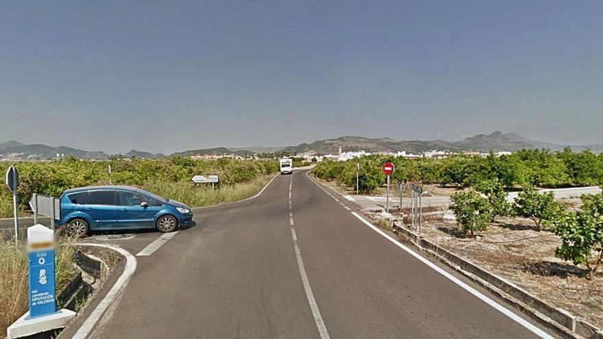 La diputación aprueba la mejora de la peligrosa carretera de Bellreguard a Almoines