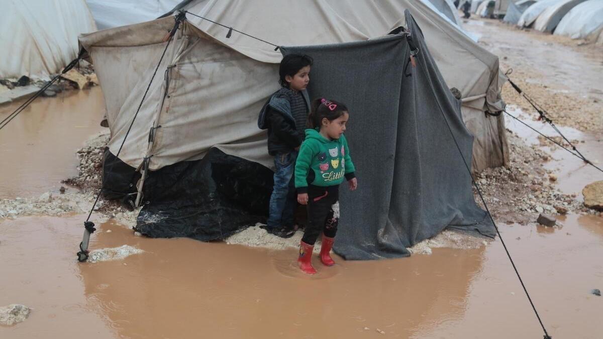 Inundaciones en Siria.