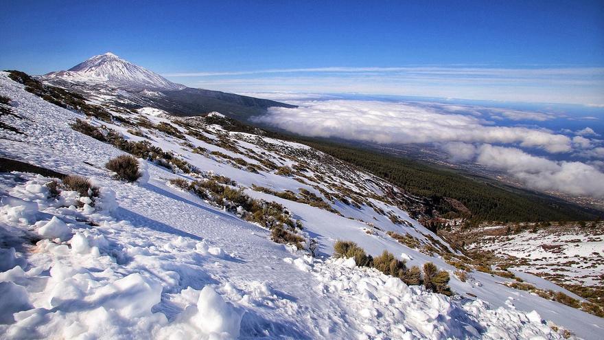 Jornada de nieve en El Teide