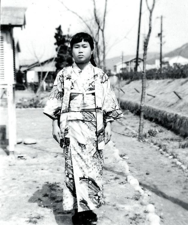 Sadako Sasaki, en 1955, poco antes de morir.