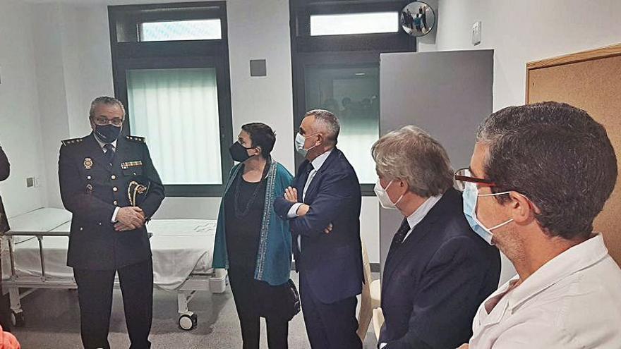 El nuevo módulo hospitalario para presos tiene cuatro habitaciones dobles y 218 m2