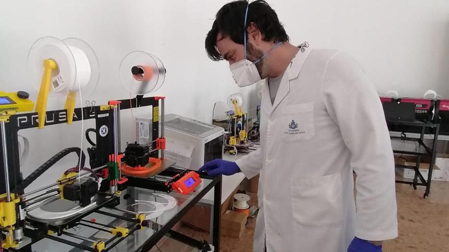 El Cabildo de Tenerife presta al Hospital San Juan de Dios una impresora 3D