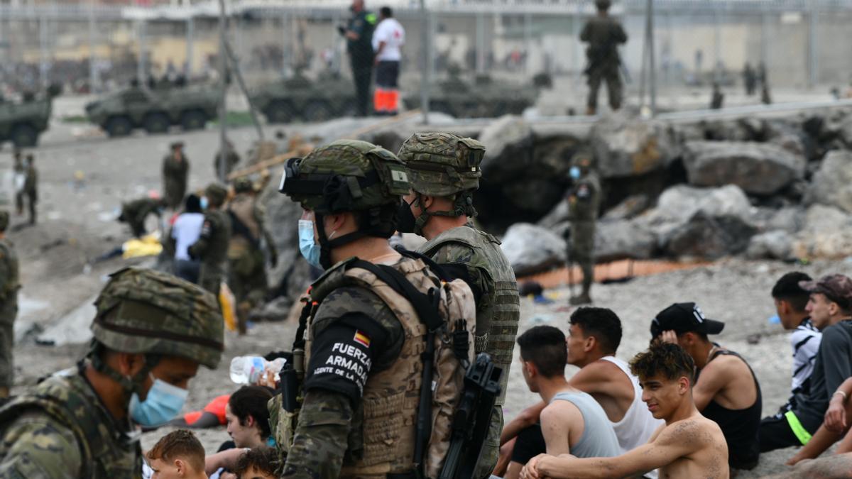 El Ejército español está desplegado en Ceuta