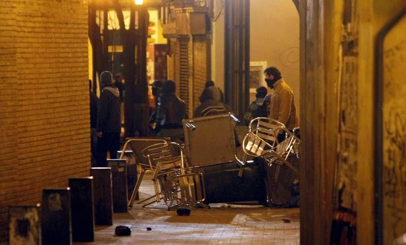 Fotogalería de los incidentes en Zaragoza