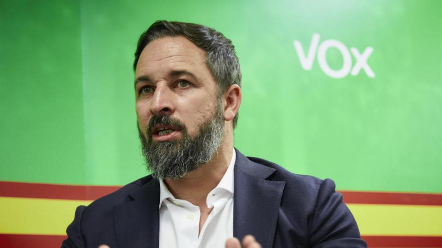Abascal confirma que Vox registrará una moción de censura el martes