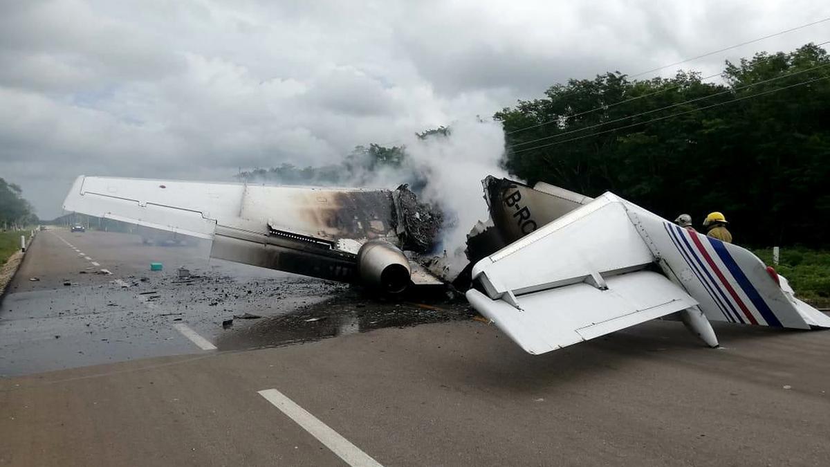 Un accidente de avioneta.