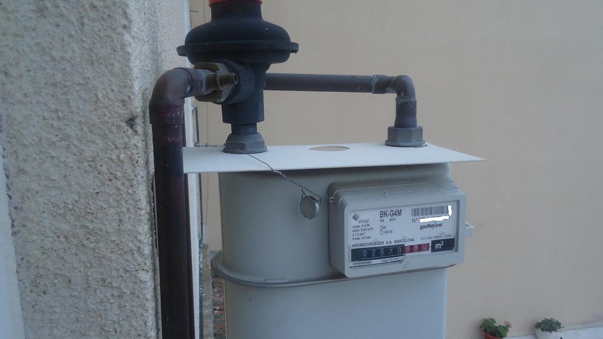 Contador individual de calefacción de gas natural