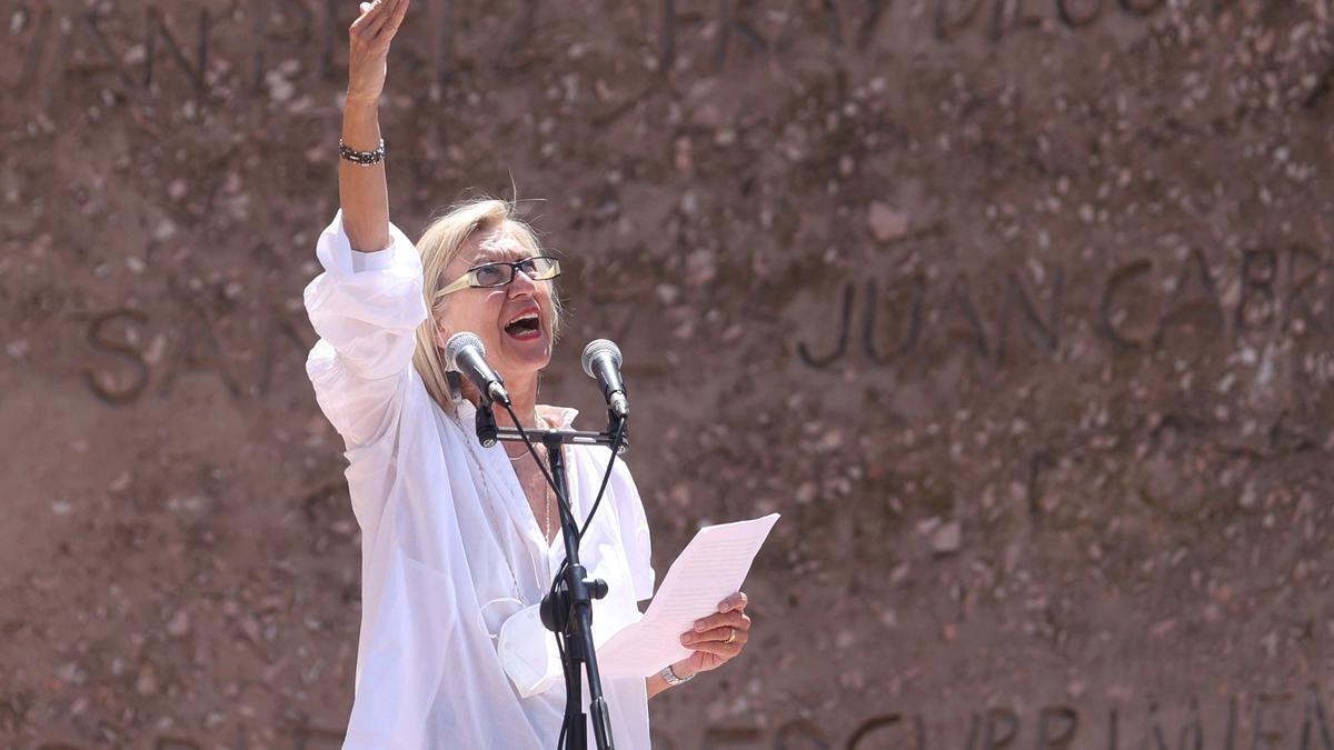 La portavoz de Unión 78, Rosa Díez.