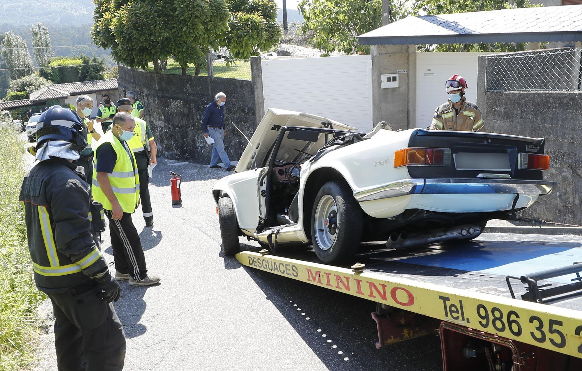 Así quedó el coche de Paz Andrade tras su accidente mortal en Gondomar