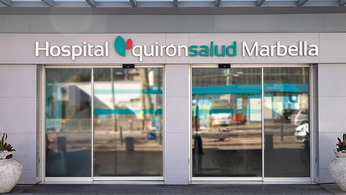 Fachada del hospital Quirónsalud de Marbella.