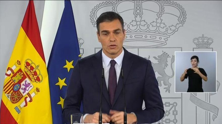 """Sánchez apela a la """"máxima disciplina social"""" y a la """"unidad de todos"""" para contener la pandemia"""