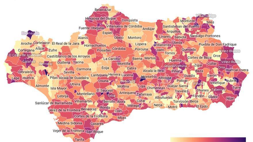 mapa Covid ANdalucía