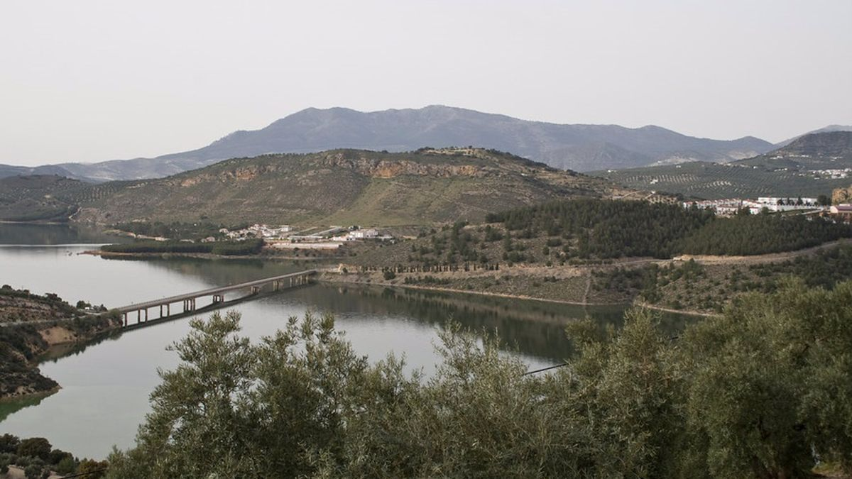 Embalse de Iznájar, en Córdoba