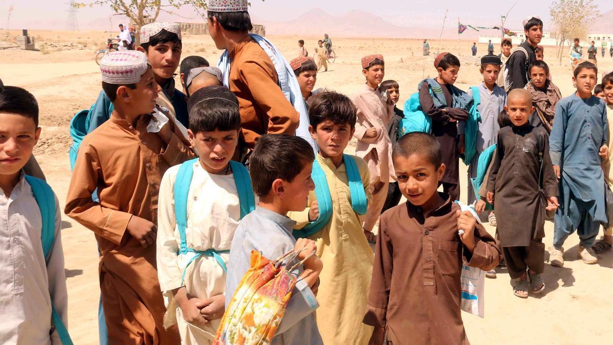 Un millón de niños en riesgo de grave desnutrición en Afganistán.