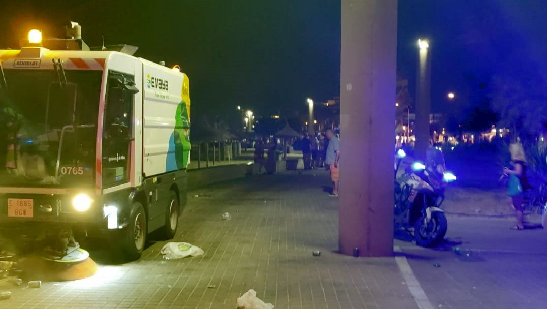 Levantan 149 actas por botellón, incumplir normativa covid y control de locales esta madrugada en Palma