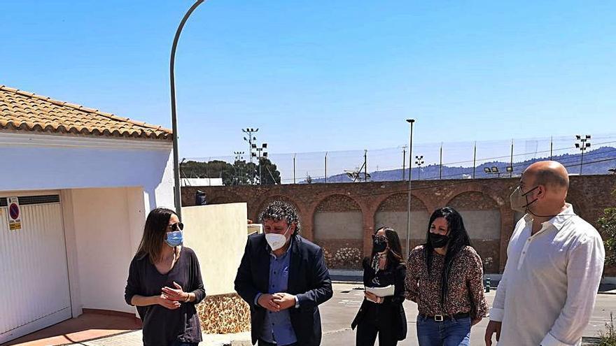 La Vall culmina el refuerzo de muros en la Colonia Segarra