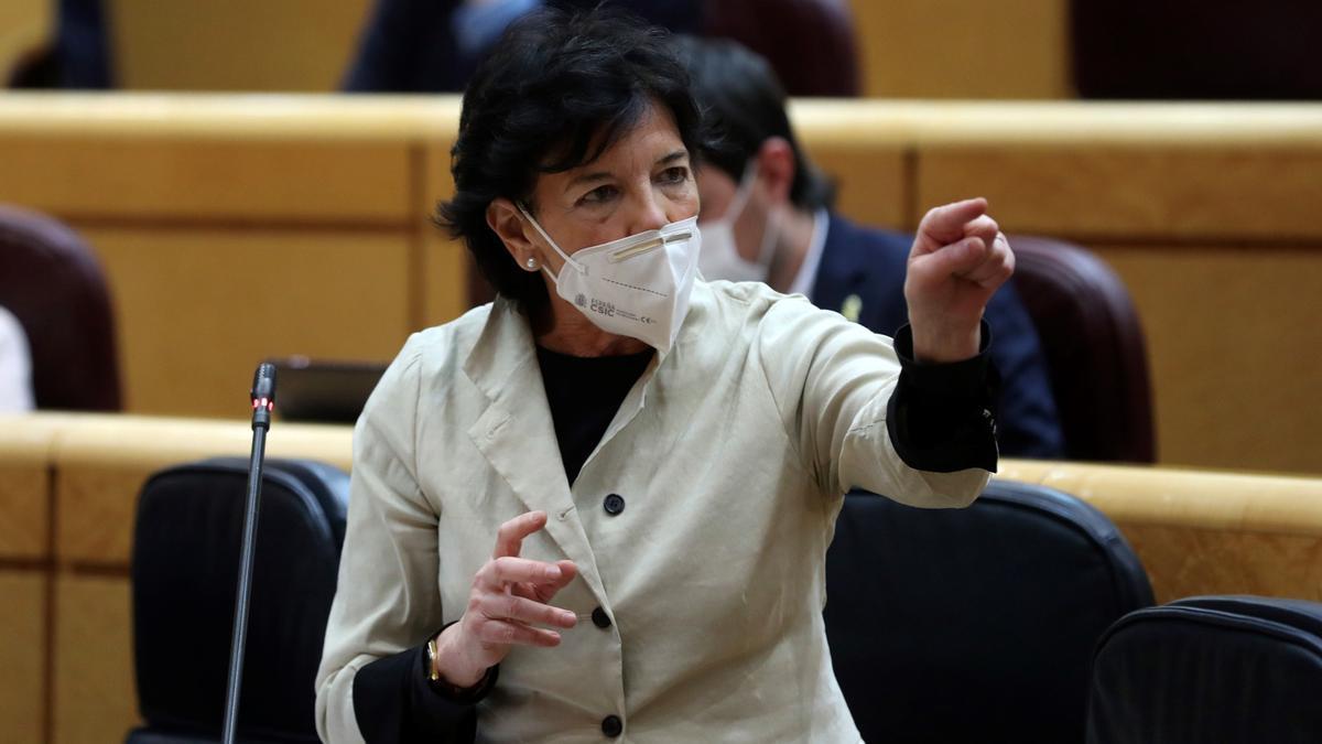 La ministra de Educación y Formación Profesional de España, Isabel Celaá.