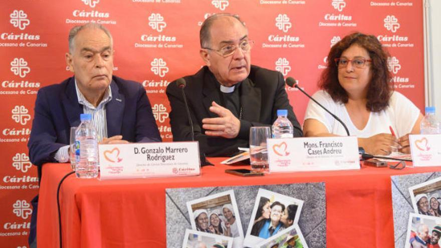 Cáritas atiende en un año a 41 familias con hijos sin hogar en Las Palmas