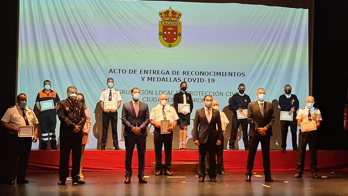 Homenaje a Protección Civil de Tacoronte