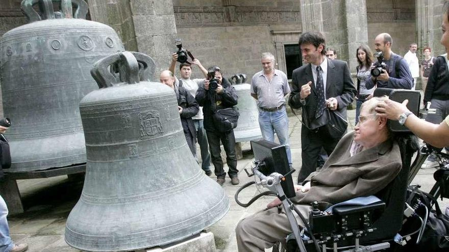 Hawking, un 'peregrino' en Fisterra