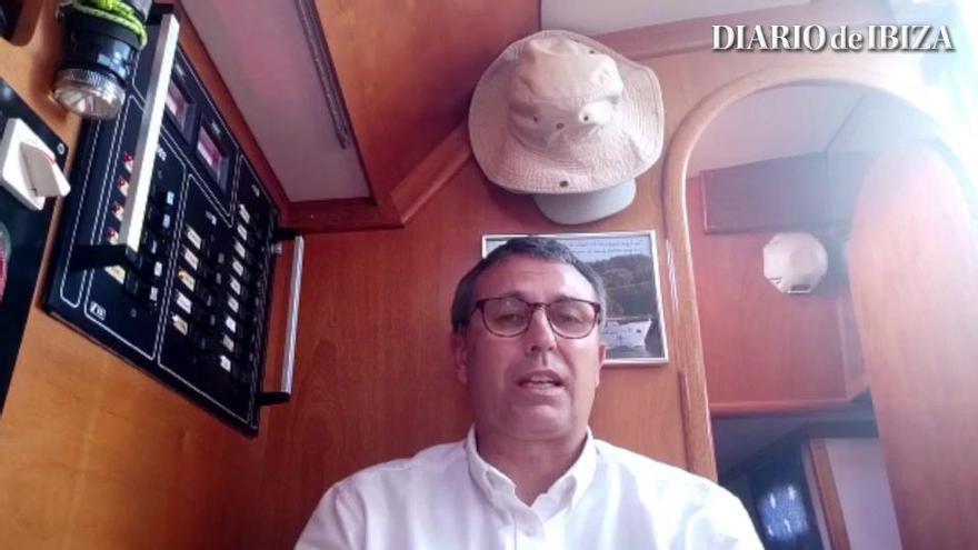 El navegante confinado en un velero se marcha de Formentera a Valencia