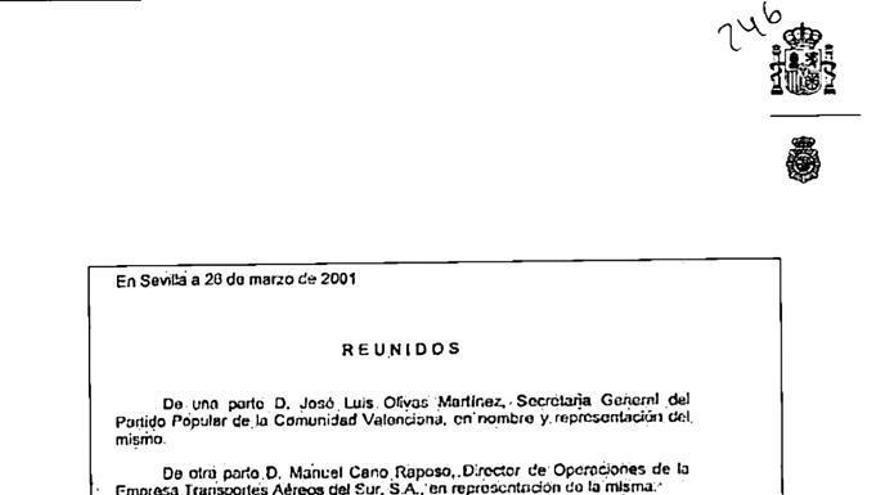 """Villarejo robó a Bárcenas  facturas del """"jet"""" que el PP pagaba a Olivas"""