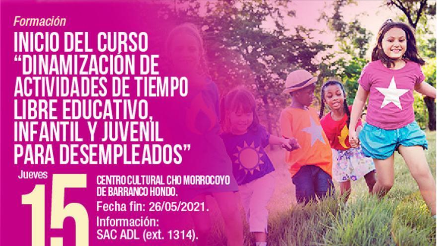 Curso 'Dinamización de tiempo libre educativo, infantil y juvenil para desempleados'