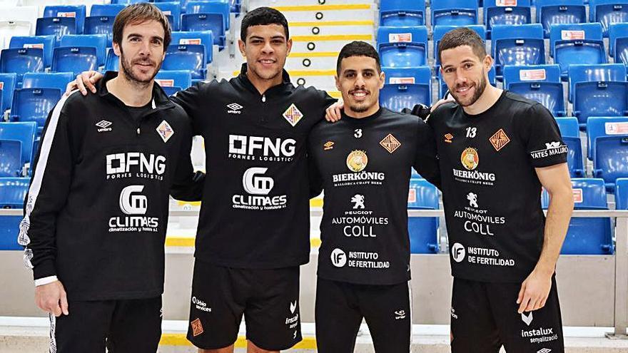 Cuatro jugadores del Palma con sus selecciones