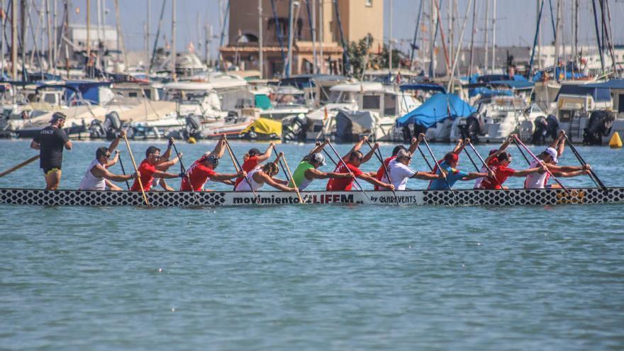 Torrevieja acoge a 400 regatistas en la IV Intercontinental Dragon Boat