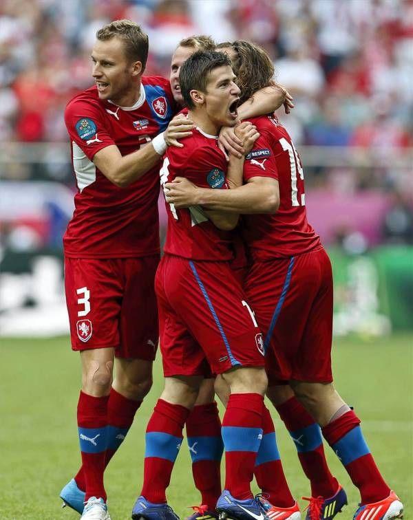 El partido Grecia 1 -República Checa 2, en imágenes
