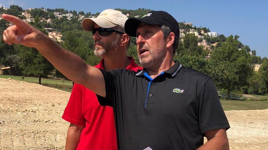 Olazábal supervisa las obras para hacer más sostenible el campo de golf de la Sella, que diseñó hace 30 años