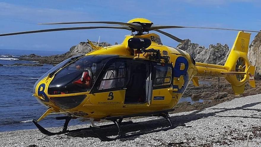 El helicóptero de rescate, en una imagen de archivo