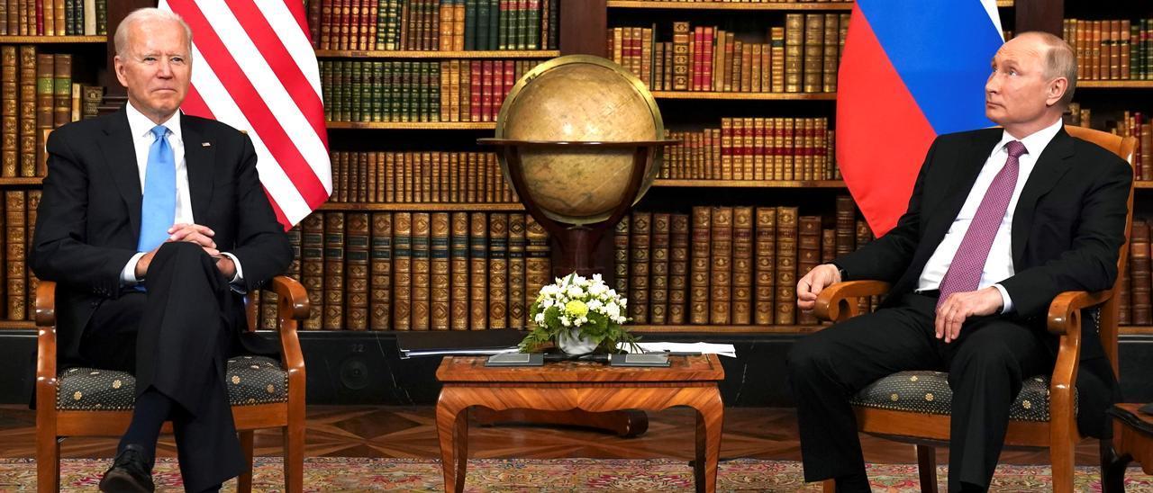 Encuentro entre Joe Biden y Vladimir Putin en Ginebra.